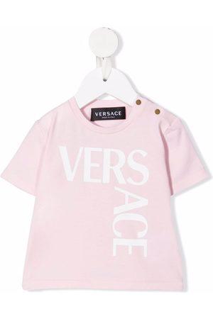 VERSACE Logo-print short-sleeve T-shirt