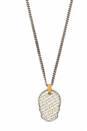 Alexander McQueen Skull tag chain necklace