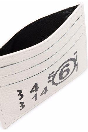 MM6 MAISON MARGIELA Logo-print leather cardholder