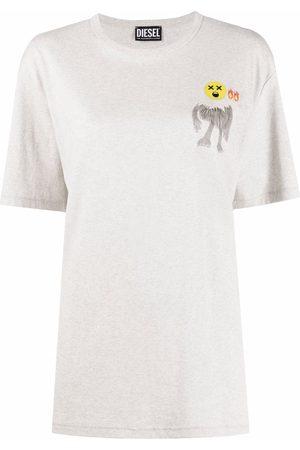 Diesel Graphic-print short-sleeved T-shirt - Grey