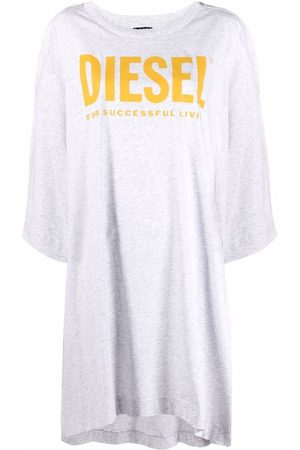 Diesel Logo-print oversized T-shirt dress - Grey