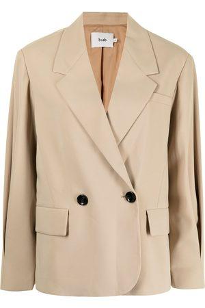 B+AB Double-breasted blazer - Neutrals
