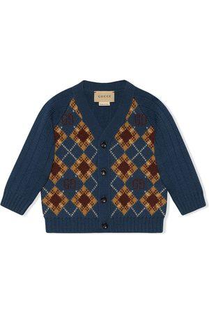 Gucci GG argyle wool cardigan