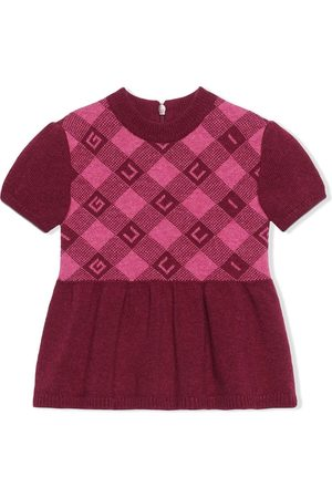 Gucci Check-pattern short-sleeve dress