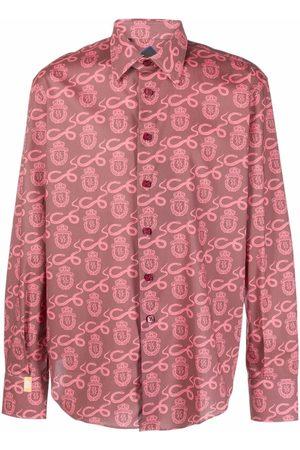 BILLIONAIRE Crest-print long-sleeve shirt