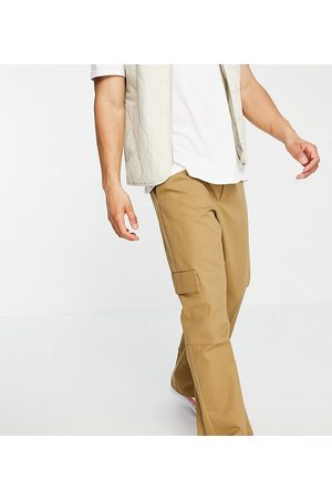 COLLUSION Straight leg cargo pants in stone-Neutral