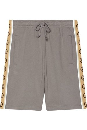 Gucci Interlocking G stripe cotton shorts - Grey