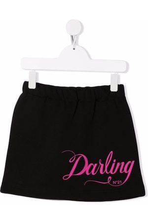 Nº21 Graphic-print A-line skirt