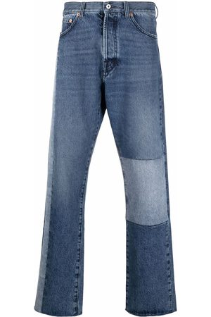VALENTINO Patchwork-detail straight-leg jeans