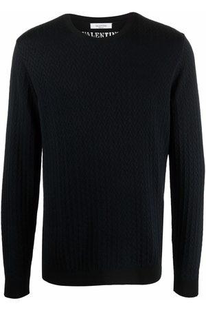 VALENTINO Logo-jacquard jumper