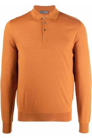 DRUMOHR Longsleeved merino polo shirt