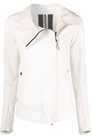 ISAAC SELLAM EXPERIENCE Prudent leather jacket - Neutrals