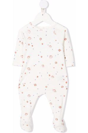 BONPOINT Planet-print cotton pyjamams
