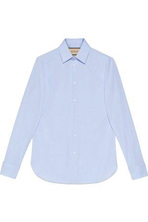 Gucci Hidden-text long-sleeve shirt