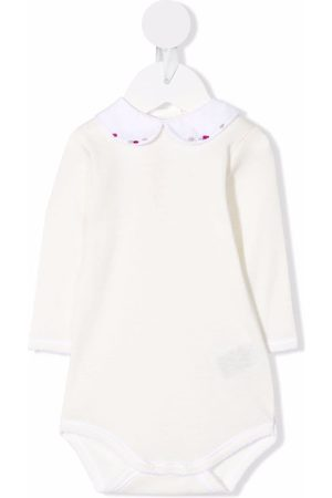Bonpoint Embroidered-collar romper