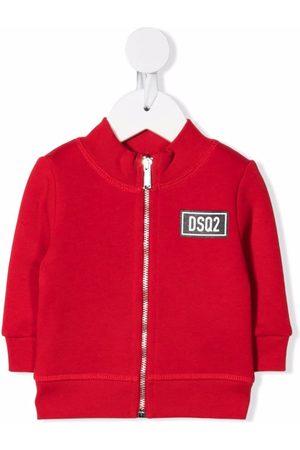 Dsquared2 Bomber Jackets - Logo-patch cotton jacket