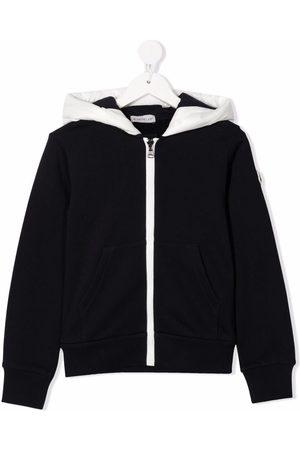 Moncler Logo-patch zipped hoodie
