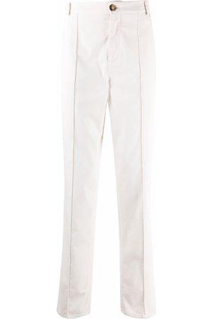 Brunello Cucinelli Men Straight Leg Pants - Straight-leg cotton trousers - Neutrals