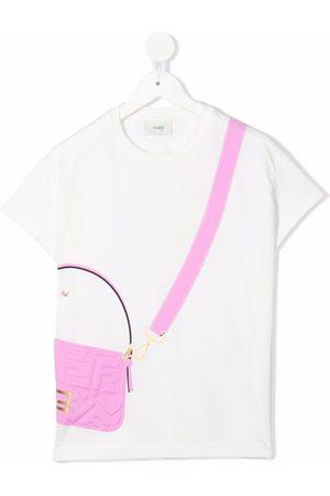 Fendi Baguette-print cotton T-shirt