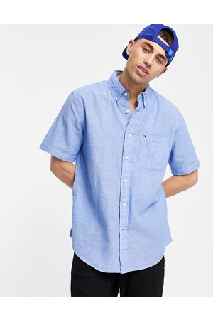 Tommy Hilfiger Peters solid short sleeve shirt-Blues