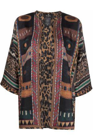 Etro Women Kimonos - Patchwork silk kimono