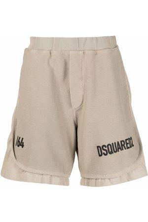 Dsquared2 Logo-print track shorts - Neutrals