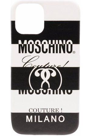 Moschino Logo-print Iphone 12/12 Pro case - 1001 - Fantasia Bianco