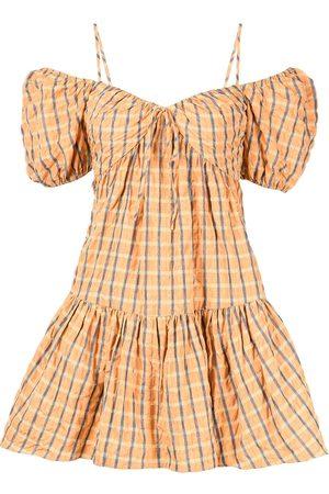 Cinq A Sept Plaid-check print dress