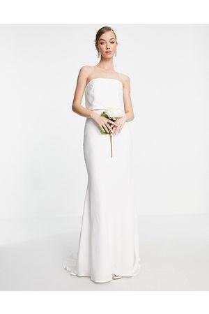 ASOS Evelyn satin bandeau wedding dress
