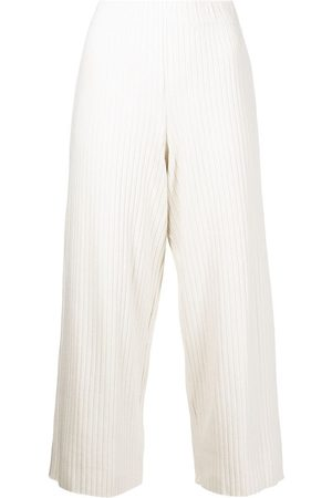 Vince Cropped ribbed trousers - Neutrals