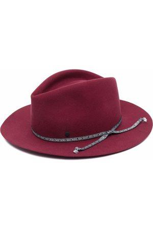 Maison Michel Logo-strap wool fedora hat