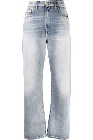 Diesel High-rise cropped jeans