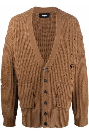 Dsquared2 Distressed-finish wool cardigan