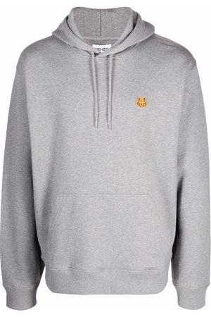 Kenzo Logo-patch hoodie - Grey