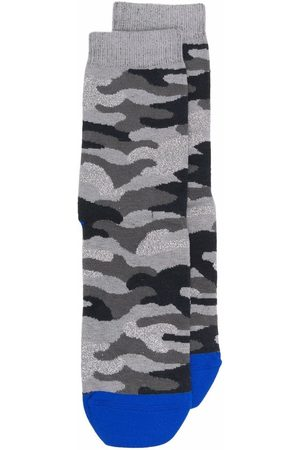 Golden Goose Camouflage-print socks - Grey