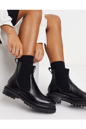 Whistles Chunky leather chelsea boots in
