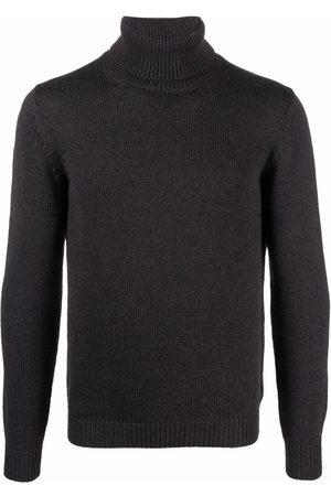 Roberto Collina Roll-neck merino jumper - Grey
