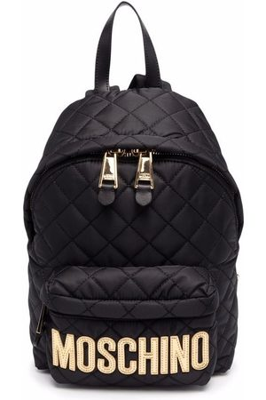 Moschino Logo-plaque quilted backpack