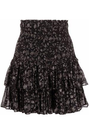 Isabel Marant Floral-print ruffled miniskirt