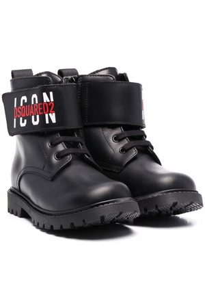 Dsquared2 Logo-strap leather boots