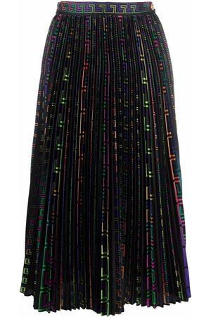 VERSACE Greca-pattern pleated skirt