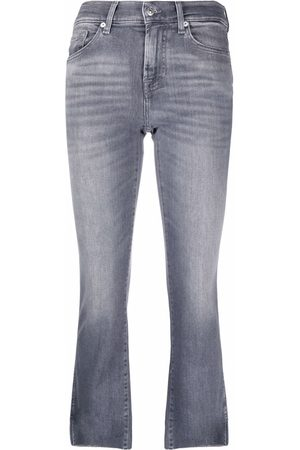 7 for all Mankind Cropped flared jeans - Grey