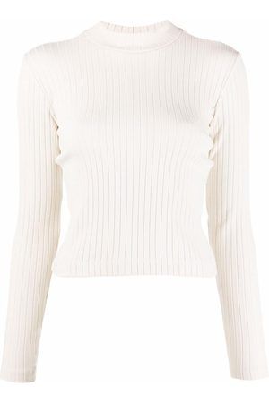 Vince Ribbed long-sleeve top