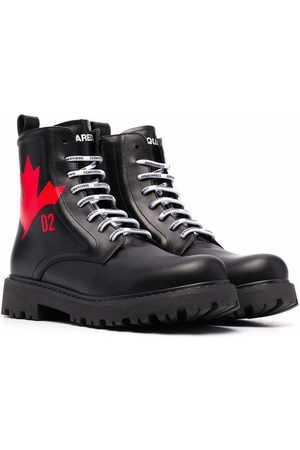 Dsquared2 TEEN lace-up leather boots