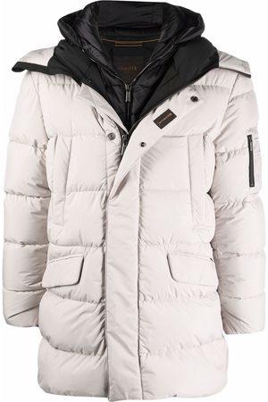 Moorer Padded zip-up coat - Neutrals