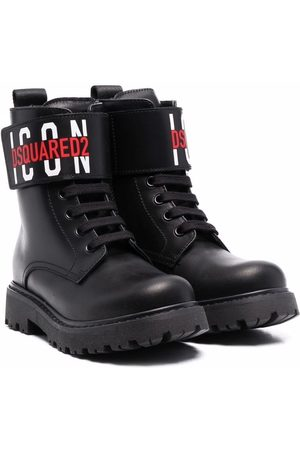 Dsquared2 Logo-print leather boots
