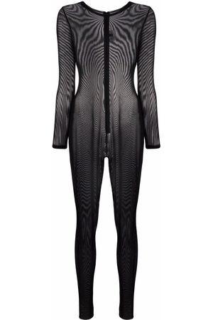 Alchemy Round-neck sheer jumpsuit