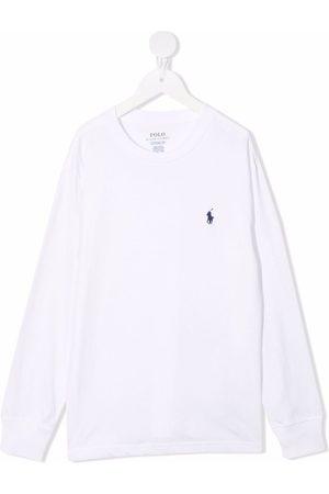 Ralph Lauren Logo-embroidered long-sleeved T-shirt
