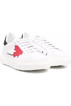 Dsquared2 Maple leaf leather sneakers