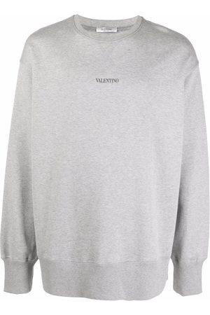 VALENTINO Logo-print cotton sweatshirt - Grey